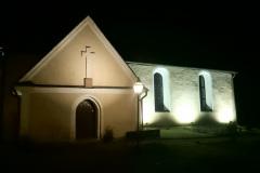Fasadbelysning av Lagga kyrka