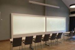 Bakbelyst whiteboard